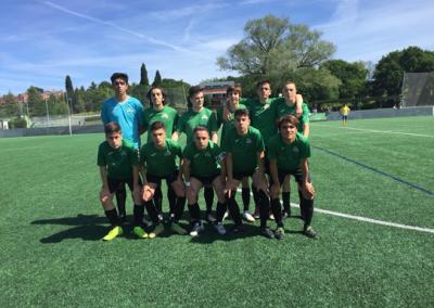 """Juvenil contra San Claudio """"B"""" club de campo la fresneda"""
