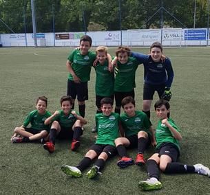 """Alevín contra Urraca """"B"""" club de campo la fresneda"""