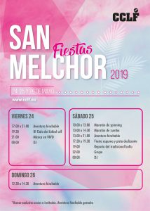 cartel fiestas san melchor 2019 la fresneda