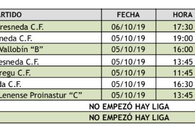 resultados 5 y 6 de octubre futbol